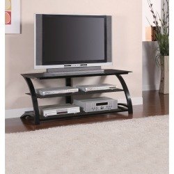 Stunning black Tv console With Designer Legs