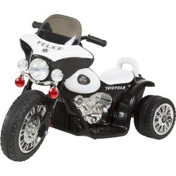 Lil' Rider Mini Three Wheel Police Chopper - Black Ride on Toy 2 - 4 Yrs Toddler Battery Powered
