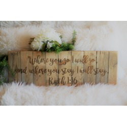 Ruth 1:16 Engraved Wall Sign found on Bargain Bro Philippines from Facebook Inc for $57.39