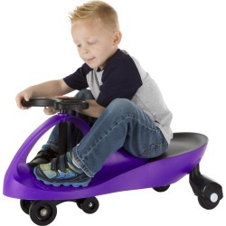 Ride On Car, No Batteries, Gears or Pedals Wiggle Movement to Steer Zigzag Car Purple