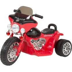 Lil' Rider Mini Three Wheel Police Chopper - Red Motorcycle Trike 2 - 4 Yrs Toddler Battery Powered