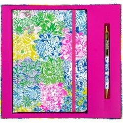 Lilly Pulitzer Journal With Pen found on Bargain Bro India from lillypulitzer.com for $22.00
