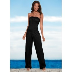 SMOCKED BANDEAU JUMPSUIT found on Bargain Bro from  for $32.99