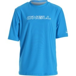 O'neill Youth Basic Skins Short Sleeve Rash Tee Shirt - Brite Blue 10 Spandex - Swimoutlet.com