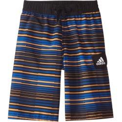 "Adidas Boys' Vara Stripe 19"" Volley Swimsuit Big Kid - Orange Xl Polyester - Swimoutlet.com"