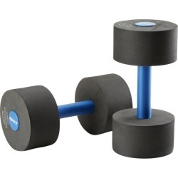 Sporti Aquatic Fitness Medium Dumbbells Water Weights - Black Eva/Foam - Swimoutlet.com