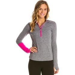 Asics Women's Thermopolis 1/2 Zip Pullover - Dark Grey Heather/Dark Large - Swimoutlet.com