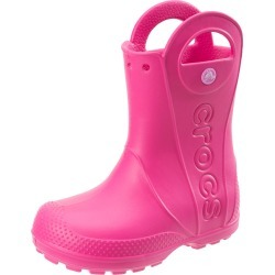 Crocs Kids' Handle It Rain Boot Toddler/Little Kid/Big Kid - Candy Pink 2 Big Kid - Swimoutlet.com