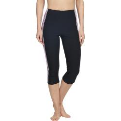 Beach House Mix And Mesh Cobra High Waisted Swim Capri - Black Medium Polyester/Spandex - Swimoutlet.com
