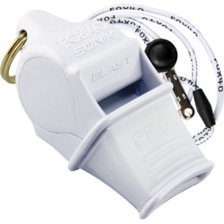 Fox 40 Fox40 Sonik Blast Cmg Whistle W/ Lanyard - White - Swimoutlet.com