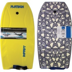 "Sola 42.5"" Impact Boogie Board With Coiled Wrist Leash - Yellow - Swimoutlet.com"