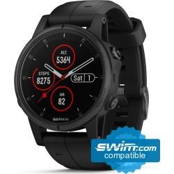 Garmin Fenix 5S Plus Sapphire Mutli-Sport Gps Watch - Black - Swimoutlet.com