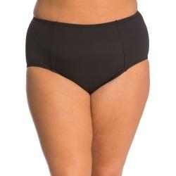 Kenneth Cole Plus Size High Waist Bikini Bottom - Black 2X - Swimoutlet.com