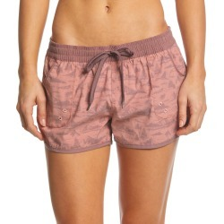 United By Blue Women's Mountain Vista Boardshorts - Clay Medium Cotton/Polyester - Swimoutlet.com