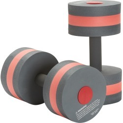 Speedo Aqua Fitness Dumbbell Water Weights - Charcoal/Red Eva/Foam - Swimoutlet.com