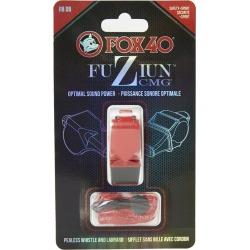 Fox 40 Fuziun Cmg Lifeguard Whistle W/ Lanyard - Red Plastic - Swimoutlet.com