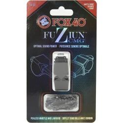 Fox 40 Fuziun Cmg Lifeguard Whistle W/ Lanyard - Black Plastic - Swimoutlet.com