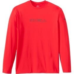 O'neill Men's Basic Skins Long Sleeve Rash Tee Shirt - Red Large - Swimoutlet.com