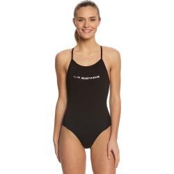Slix Australia Women's Back In Black Curve One Piece Swimsuit - 10 Polyester - Swimoutlet.com