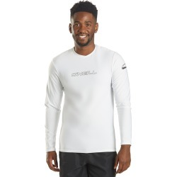 O'neill Men's Basic Skins Long Sleeve Rash Tee Shirt - White Large - Swimoutlet.com