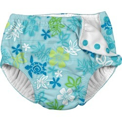 I Play. By Green Sprouts Boys' Aqua Hawaiian Swim Diaper Baby - 24 Months Polyester - Swimoutlet.com