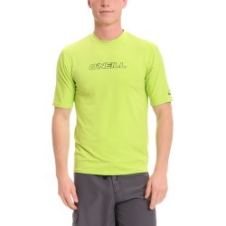 O'neill Men's Basic Skins Short Sleeve Rash Tee Shirt - Lime 2Xl - Swimoutlet.com