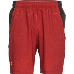"Under Armour Men's Launch Sw 7"" Printed Short - Aruba Red/Black Large Polyester - Swimoutlet.com"