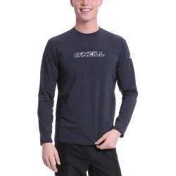 O'neill Men's Basic Skins Long Sleeve Rash Tee Shirt - Black Xxl - Swimoutlet.com