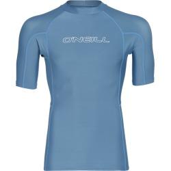 O'neill Men's Basic Skins Short Sleeve Crew Rashguard - Dusty Blue Small - Swimoutlet.com