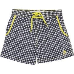 Mr. swim Boys' Houndstooth Swim Trunk Toddler/Little/Big Kid - Black 4 - Swimoutlet.com