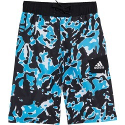 "Adidas Boys' Terra 19"" Volley Short Big Kid - Black Small Polyester - Swimoutlet.com"