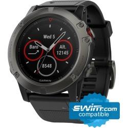 Garmin Fenix 5X Sapphire Multi-Sport Gps Watch - Slate Gray With Black Band - Swimoutlet.com