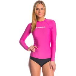 O'neill Women's Basic Skins Long Sleeve Crew Rashguard - Fox Pink X-Small - Swimoutlet.com