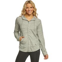 Adidas Outdoor Women's S2S Full Zip Hoodie Sweatshirt - Medium Grey Heather X-Small Cotton - Swimoutlet.com