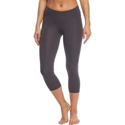 TYR Solid Kalani Capri Swim Tight - Grey X-Small Polyester/Spandex - Swimoutlet.com