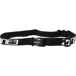 Zone 3 Race Belt With Gel Loops - Black/White/Red Nylon - Swimoutlet.com