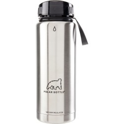Polar Bottle Thermaluxe Insulated Stainless Steel Bottle - Stainless/Steel - Swimoutlet.com