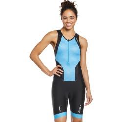2Xu Women's Perform Front Zip Tri Suit - Black/Aquarius Mesh Print Large - Swimoutlet.com