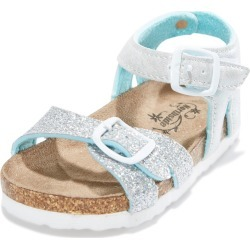 Northside Girls' Maisie Sandals Toddler/Little/Big Kid - Turquoise/Silver 4 Big - Swimoutlet.com