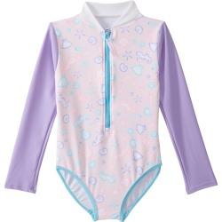 Platypus Australia Girls Long Sleeve One Piece Swimsuit Baby - Sherbet Shore 1 - Swimoutlet.com