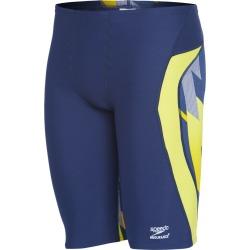 Speedo Endurance+ Men's Pinstripe Flight Jammer Swimsuit - Navy/Gold 36 - Swimoutlet.com found on Bargain Bro Philippines from Swim Outlet for $35.10