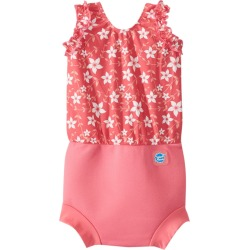 Splash About Happy Nappy One Piece Swimsuit W/Built-In Swim Diaper 3 Months-3T - Pink Blossom Small 0-4 Months Neoprene/Nylon/Elastane