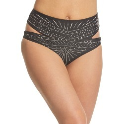 Beach Riot African Moon Whitney High Waist Bikini Bottom - Black X-Small - Swimoutlet.com found on MODAPINS from Swim Outlet for USD $65.95