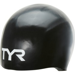 TYR Tracer X Dome Cap - Black Large Size Large Silicone - Swimoutlet.com
