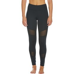 "Dolfin Uglies Women's Revibe Solid 7/8"" Mesh Swim Tight - Black Medium Size Medium Polyester/Spandex - Swimoutlet.com"
