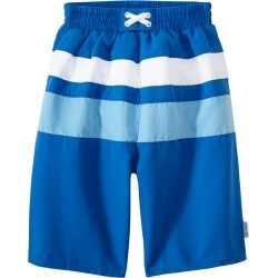 I Play. By Green Sprouts Boys' Classic Colorblock Trunks W/Built-In Swim Diaper Baby - Royal/Light Blue 24 Months - Swimoutlet.com