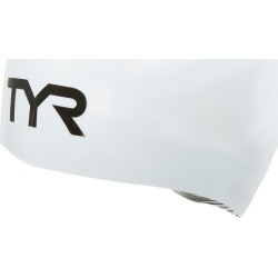 TYR Tracer X Dome Cap - White Large Size Large Silicone - Swimoutlet.com