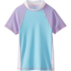 Platypus Australia Girls' Short Sleeve Fitted Sunshirt Baby - Sherbet Block 14 - Swimoutlet.com