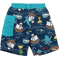 I Play. By Green Sprouts Boys' Octopus Swim Trunks W/Built-In Diaper Baby - Navy 24 Months - Swimoutlet.com