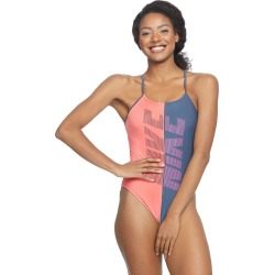 Nike Women's Rift Cut Out One Piece Swimsuit - Monsoon Blue 36 Polyester - Swimoutlet.com found on Bargain Bro Philippines from Swim Outlet for $41.95